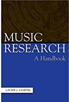 Music Research: A Handbook by Laurie J.…