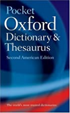 The Pocket Oxford Dictionary and Thesaurus…