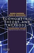 Econometric Theory and Methods International…