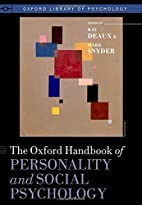 The Oxford handbook of personality and…