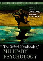 The Oxford Handbook of Military Psychology…