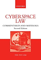 Cyberspace Law: Commentaries and Materials…