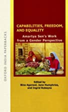 Capabilities, Freedom, and Equality: Amartya…