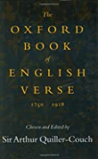 The Oxford Book of English Verse 1250-1918…