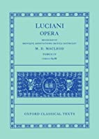 Opera. Tomus IV: Libelli 69-86 (Oxford…