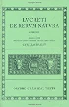 De Rerum Natura (Oxford Classical Texts…