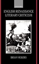 English Renaissance literary criticism by…
