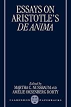 Essays on Aristotle's De Anima by Martha C.…