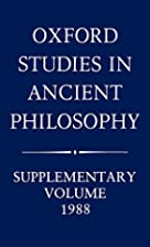 Oxford Studies in Ancient Philosophy:…