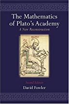 The Mathematics of Plato's Academy: A…