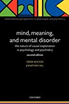 Mind, Meaning, and Mental Disorder: The…