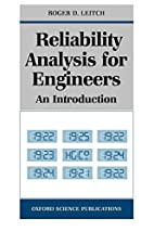 Reliability Analysis for Engineers: An…