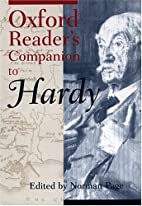 Oxford Reader's Companion to Hardy by Norman…