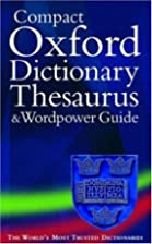 The Compact Oxford Dictionary, Thesaurus and…