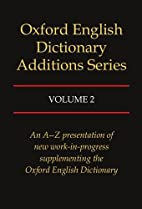 Oxford English Dictionary Additions Series,…