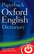 Paperback Oxford English Dictionary by…