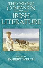 The Oxford companion to Irish literature by…