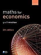 Maths for Economics by Geoff Renshaw