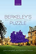 Berkeley's Puzzle: What Does Experience…