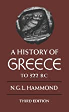 A History of Greece to 322 B.C. by N. G. L.…