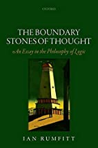 The Boundary Stones of Thought: An Essay in…
