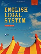 English Legal System, 2nd Ed. by Steve…