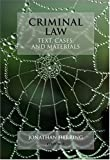 Herring, Jonathan: Criminal Law: Text, Cases, And Materials
