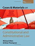 Cases and Materials on Constitutional and…