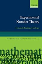 Experimental Number Theory by Fernando…