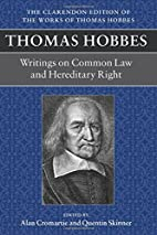 Thomas Hobbes: Writings on Common Law &…