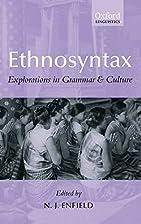 Ethnosyntax: Explorations in Grammar and…
