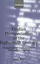 English Pronunciation in the Eighteenth…