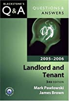 Questions & Answers: Landlord and Tenant…