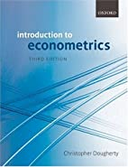 Introduction to Econometrics by Christopher…