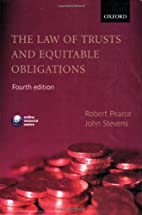 The Law of Trusts and Equitable Obligations…