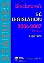 Blackstone's EC Legislation (Blackstone's…