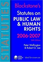 Public law & human rights by Peter…