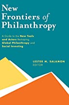 New frontiers of philanthrophy : A Guide to…