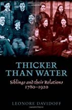 Thicker than Water: Siblings and their…