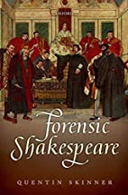 Forensic Shakespeare (Clarendon Lectures in…