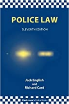 Police Law by Jack English