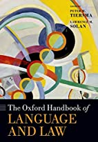 The Oxford Handbook of Language and Law…