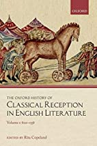 The Oxford history of classical reception in…