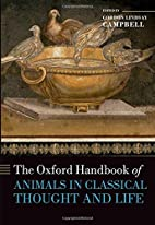 The Oxford Handbook of Animals in Classical…