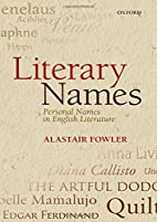Literary Names: Personal Names in English…
