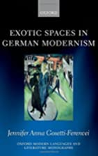 Exotic spaces in German modernism by…