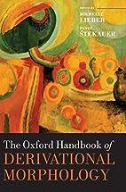 The Oxford handbook of derivational…