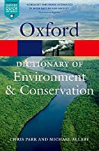 A Dictionary of Environment and Conservation…