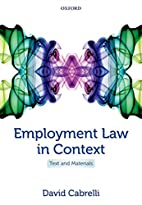 Employment Law in Context: Text and…