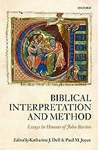Biblical Interpretation and Method: Essays…